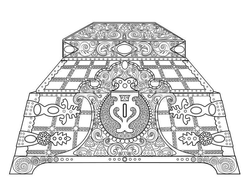 Kist voor juwelen royalty-vrije illustratie