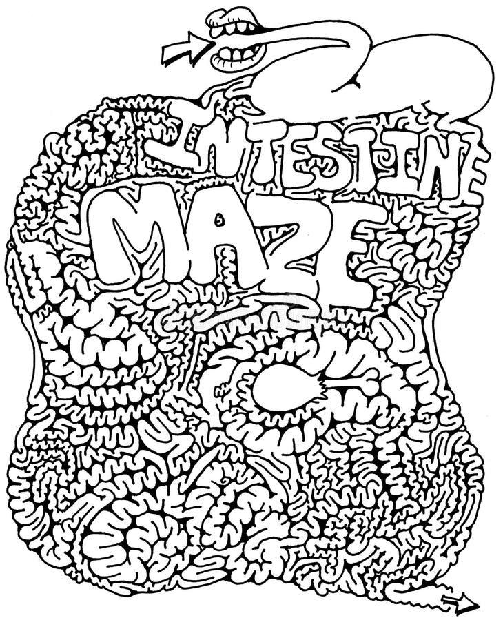 kiszkowy labirynt ilustracja wektor