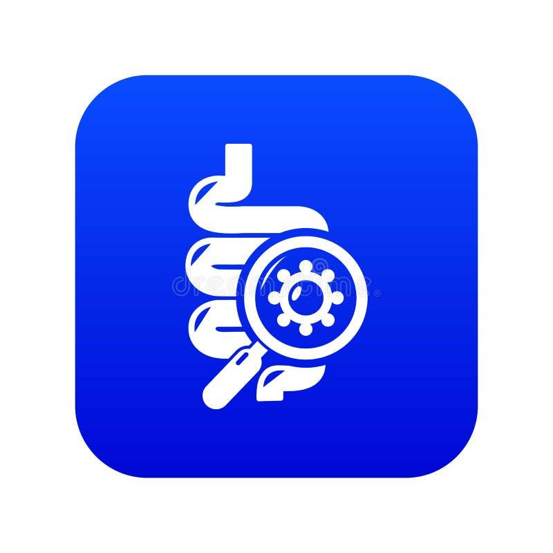 Kiszkowy wirusowy ikony błękita wektor ilustracja wektor