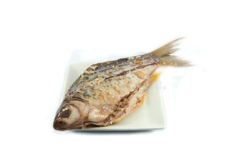 Kiszona ryba na talerzu zdjęcie stock