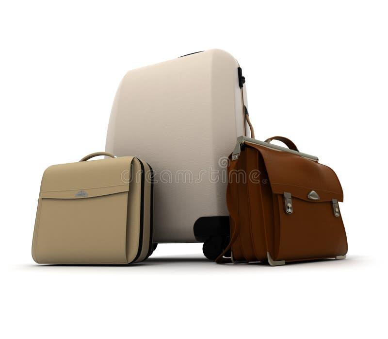 kit biznesowej podróży bagażu ilustracja wektor