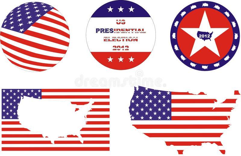 Kit d'élection des USA illustration libre de droits