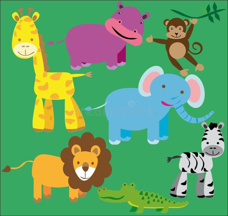 Kit d'animaux sauvages illustration de vecteur