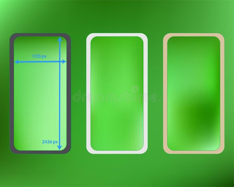Kit d'arrière-plans de téléphone en maille, couleur citron illustration de vecteur