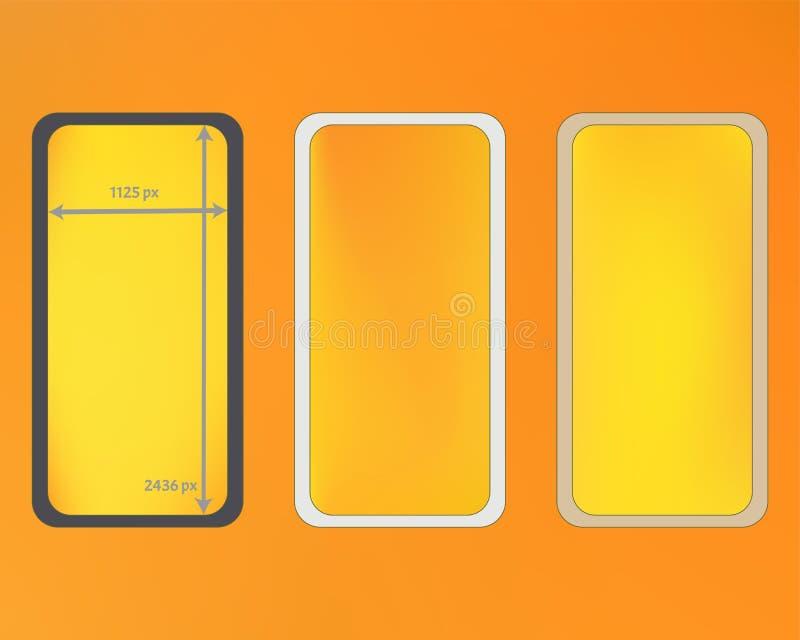 Kit d'arrière-plans de téléphone en maille jaune illustration libre de droits