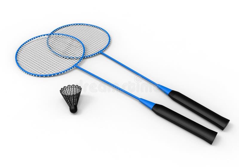 Kit de badminton illustration de vecteur