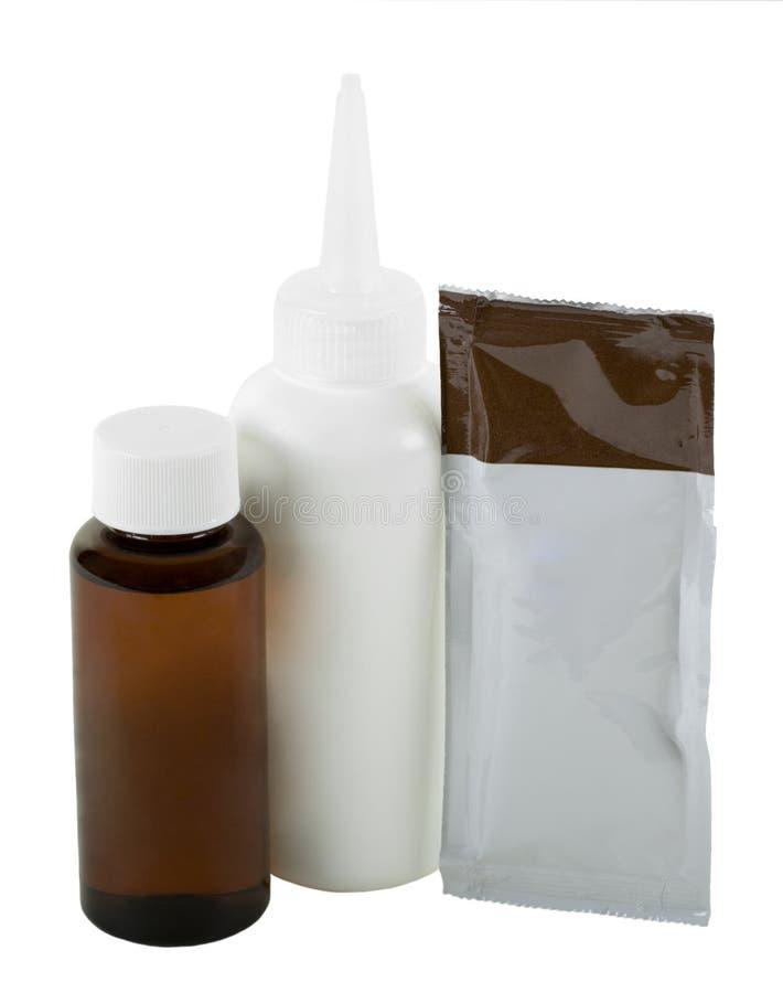 Kit de coloration de cheveu photographie stock