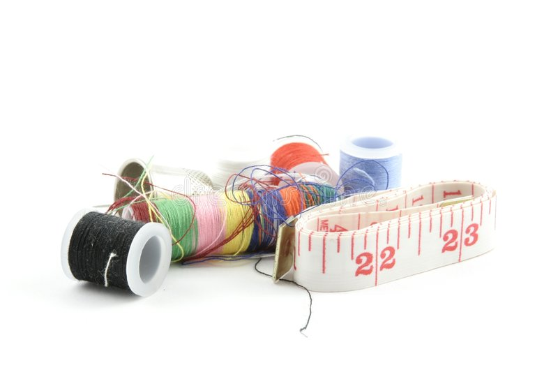 Kit de costura imagen de archivo