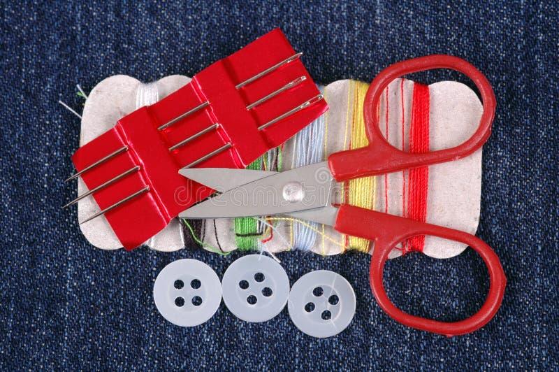 Kit de costura. fotografía de archivo