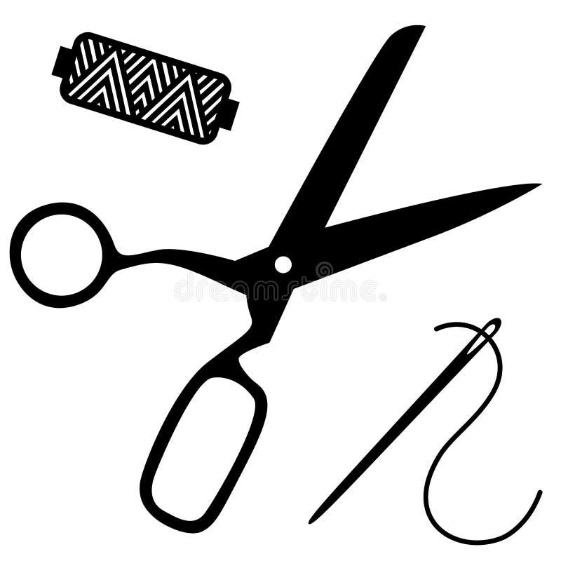 Kit de costura stock de ilustración
