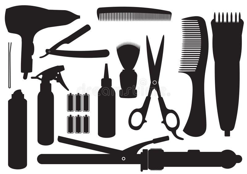 Kit de la peluquería del vector stock de ilustración