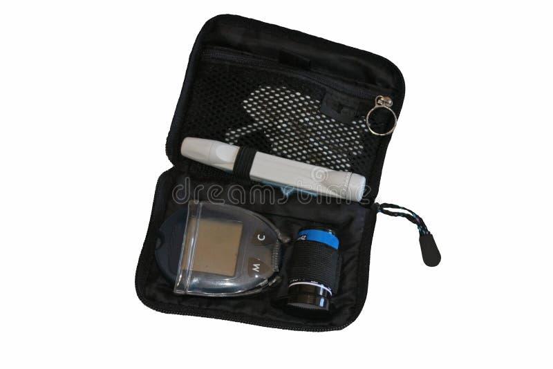 Kit de la supervisión de la glucosa para la diabetes foto de archivo