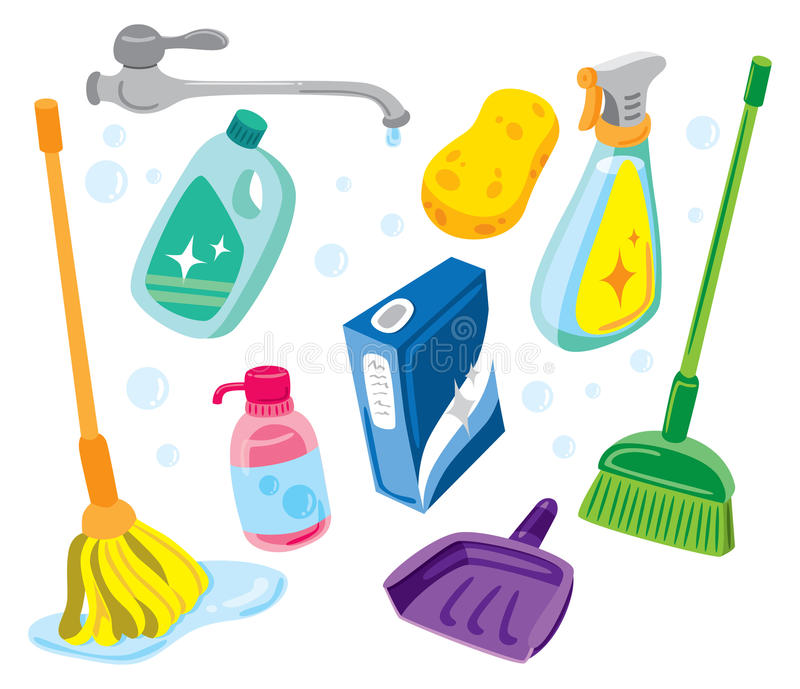 Kit de nettoyage illustration libre de droits