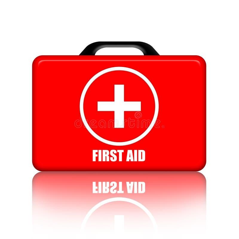 Kit de primeros auxilios stock de ilustración