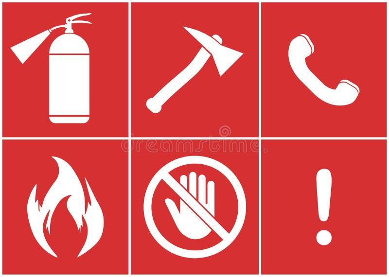Kit de sécurité incendie Contre un feu illustration libre de droits