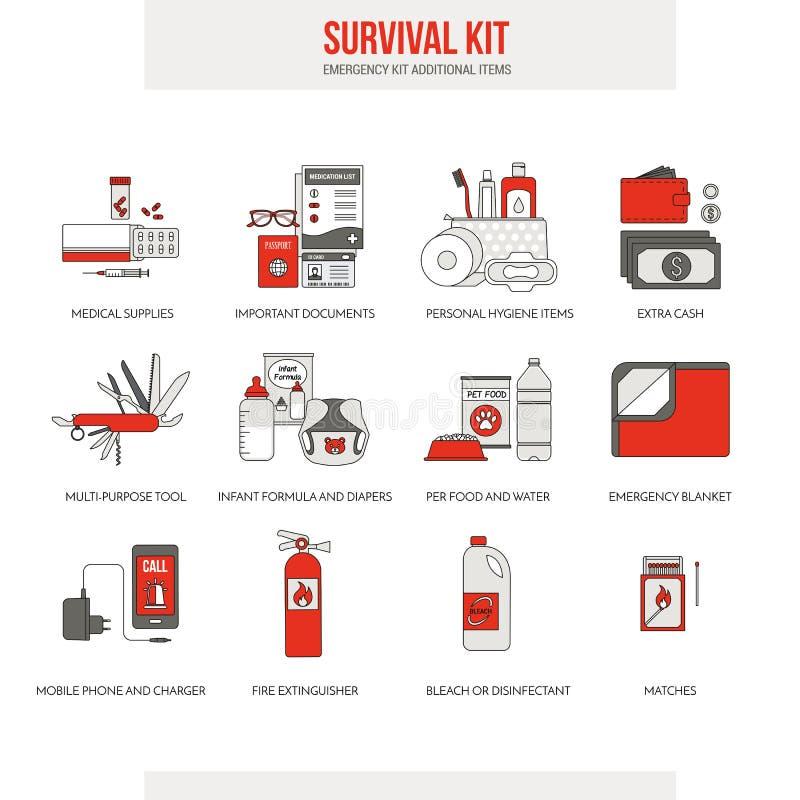 Kit de secours de survie illustration libre de droits