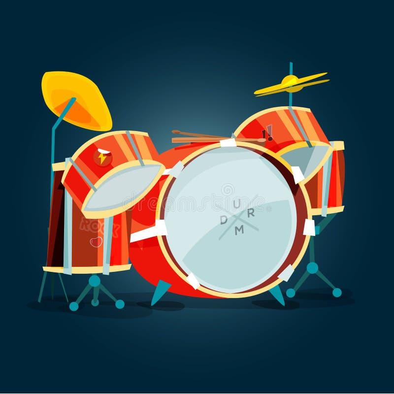 Kit de tambour - vecteur illustration libre de droits