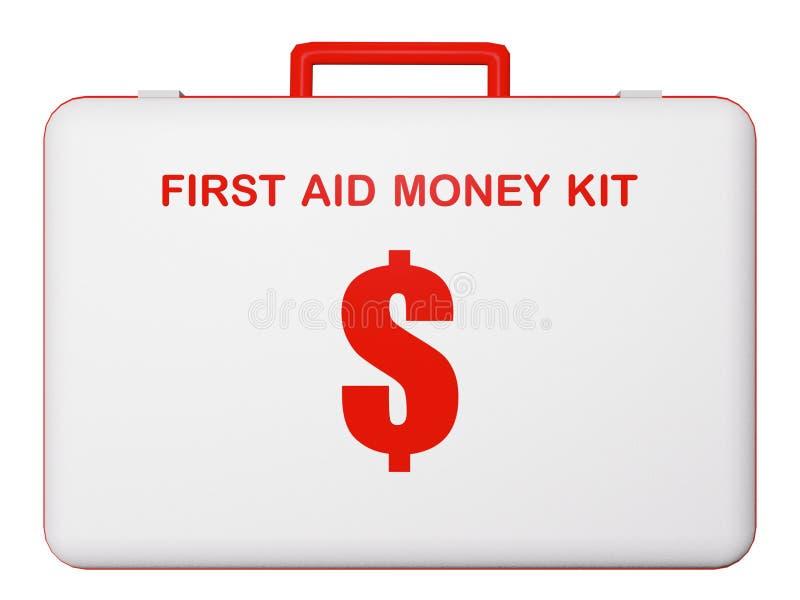 Kit del dinero de los primeros auxilios (dólar). fotografía de archivo libre de regalías