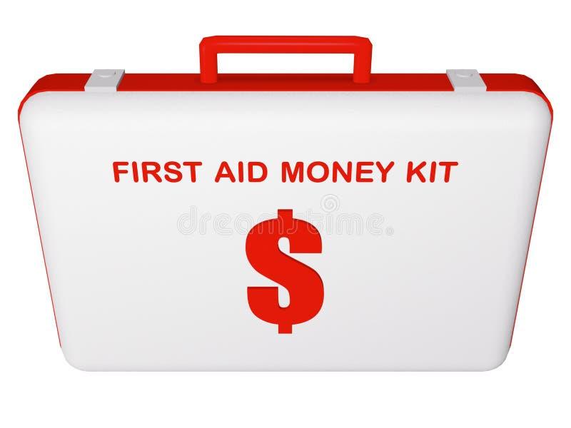 Kit del dinero de los primeros auxilios (dólar). imagen de archivo libre de regalías