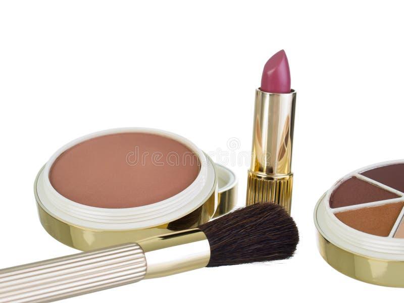 Kit del maquillaje de Earthtones foto de archivo libre de regalías