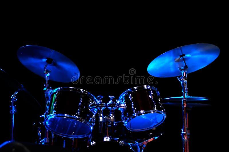 Kit del tambor en la etapa fotografía de archivo