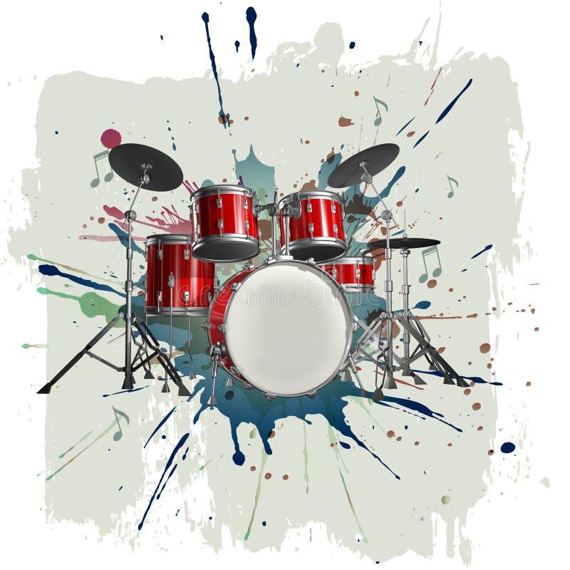 Kit del tamburo illustrazione di stock