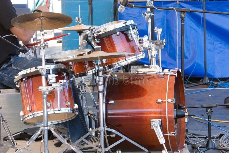 Kit del tamburo fotografie stock libere da diritti