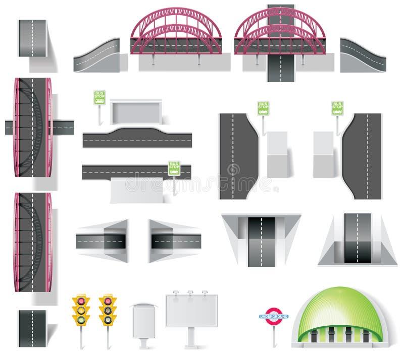 Kit della creazione del programma della città (DIY). Parte 10. Elemets royalty illustrazione gratis