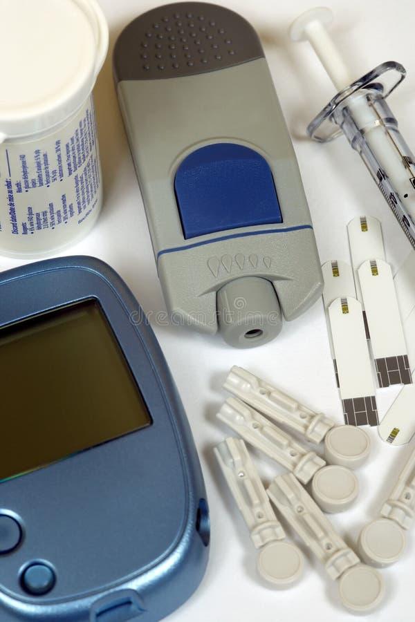 Kit di autodiagnostica del diabete fotografia stock libera da diritti