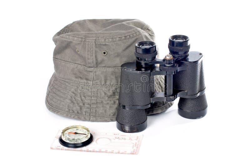 Kit di avventura fotografie stock