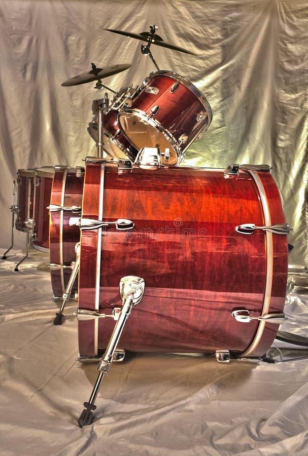 Kit doble del tambor bajo fotos de archivo