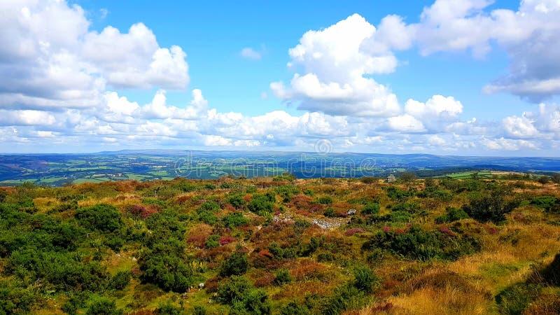 Kit hill Cornwall looking towards North Devon. Hiking, walking, travel, exploring royalty free stock photos