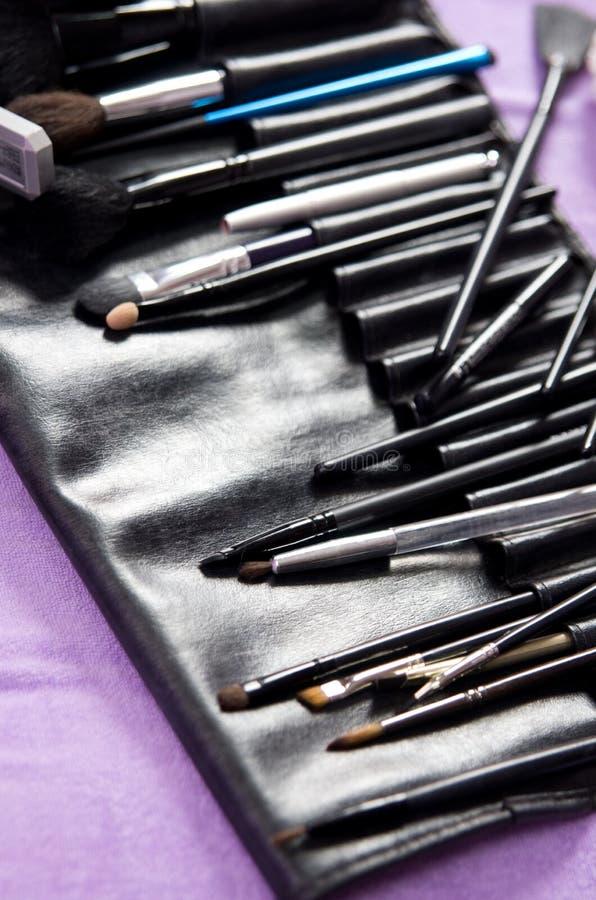Kit profesional del maquillaje foto de archivo libre de regalías