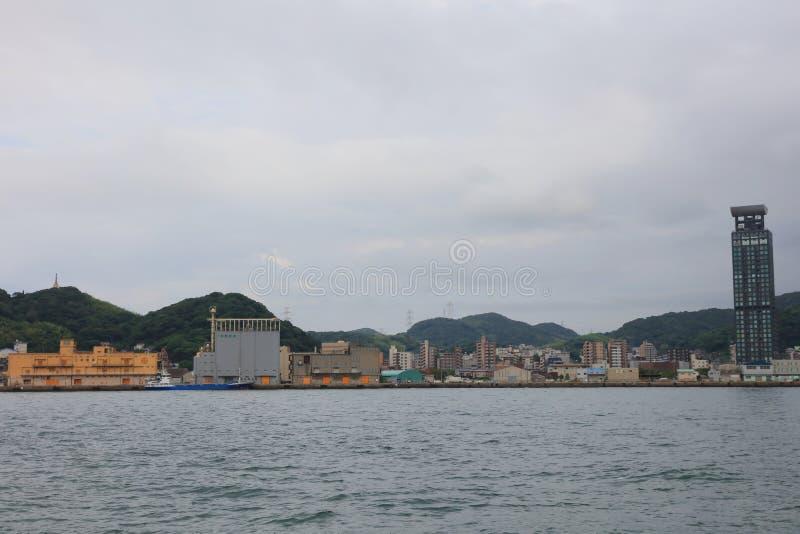 Kitakyushu, de Prefectuur van Fukuoka, Japan royalty-vrije stock foto's