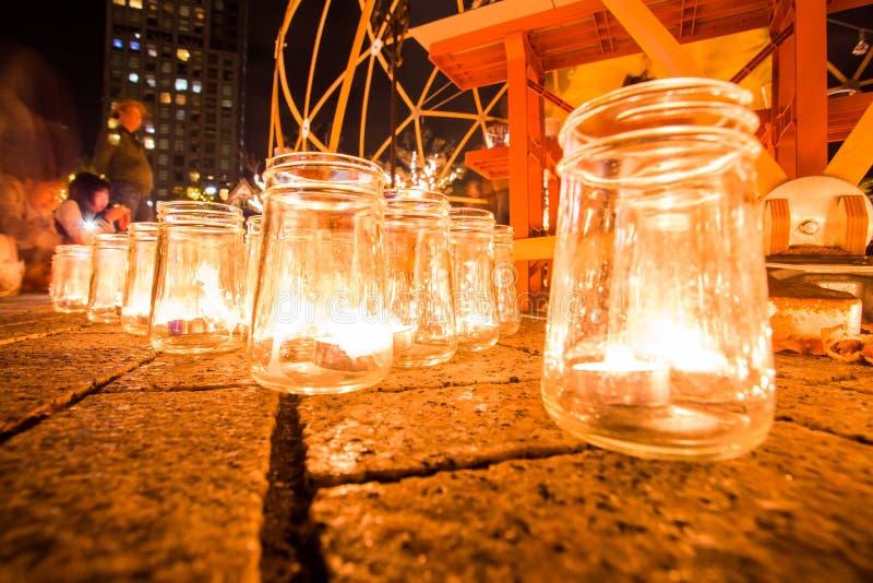 Kitakyushu, Japon - 19 novembre 2016 : nuit de bougie au port de Mojiko dans Kitakyushu, préfecture de Fukuoka, Japon images stock
