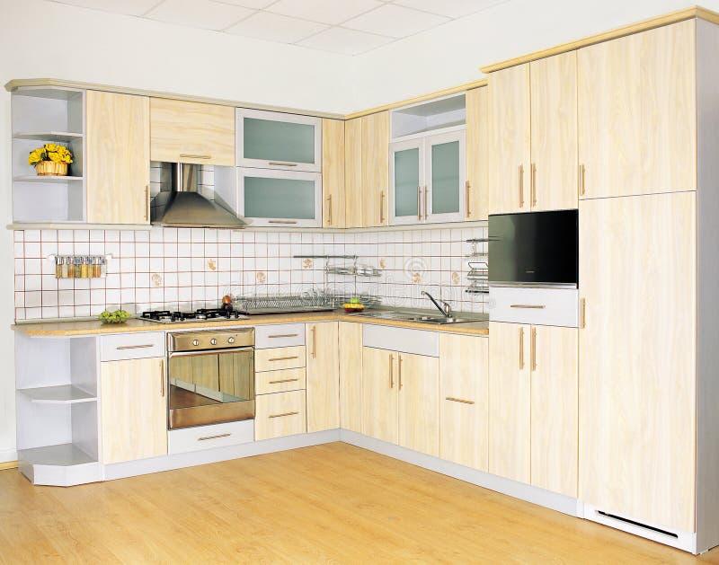 Kitchen. A modern yellow kitchen