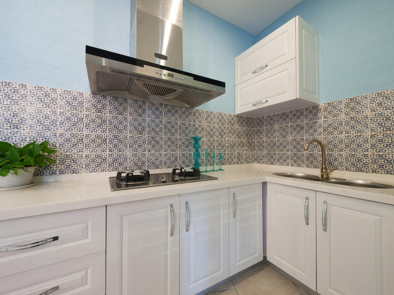 Download Kitchen stock image. Image of nobody, decor, room, green - 12437815