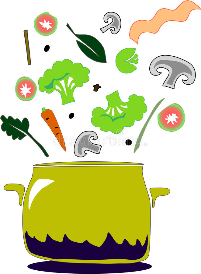 Download Kitchen stock vector. Image of kitchen, broccoli, supper - 12492494