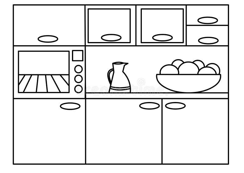 Download Kitchen stock illustration. Illustration of cook, basket - 13141532