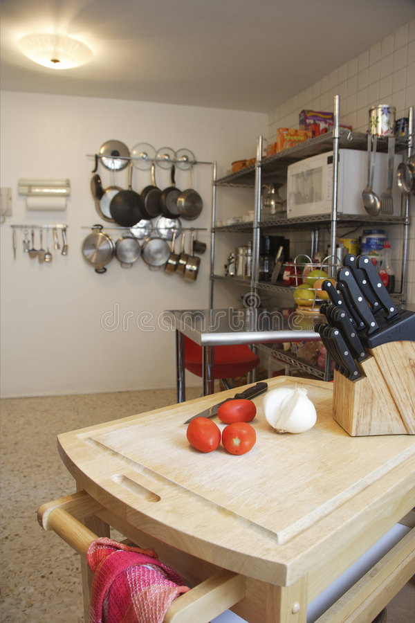 Kitchen. Detail in a modern apartment in Mexico stock images