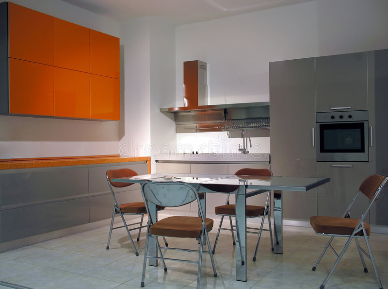 Kitchen 5. Orange kitchen 5 stock photos