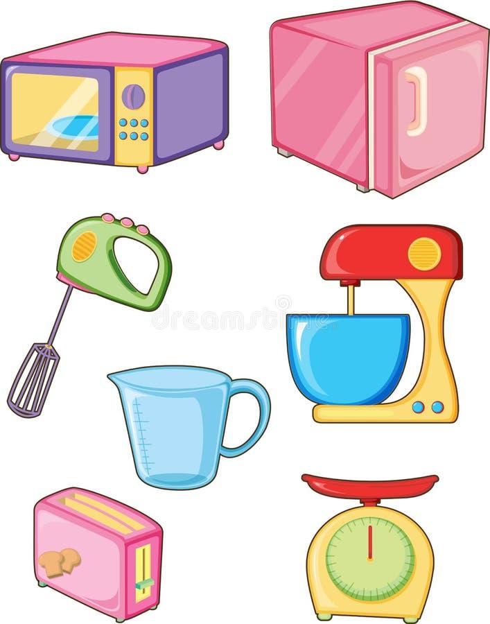 Kitchen appliances royalty free illustration