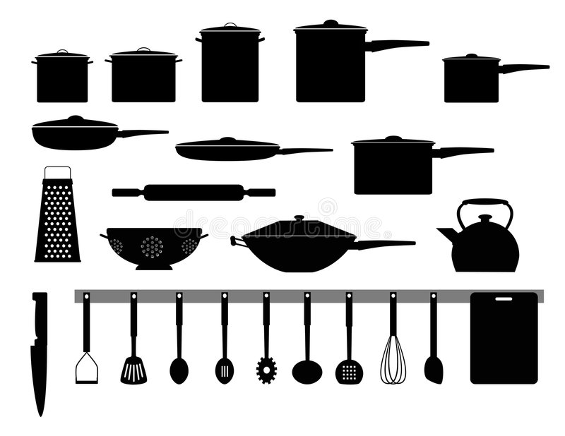 Kitchen appliances royalty free illustration