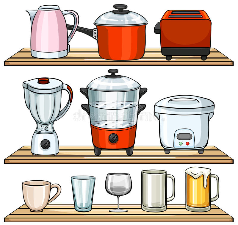 Kitchen appliances stock illustration