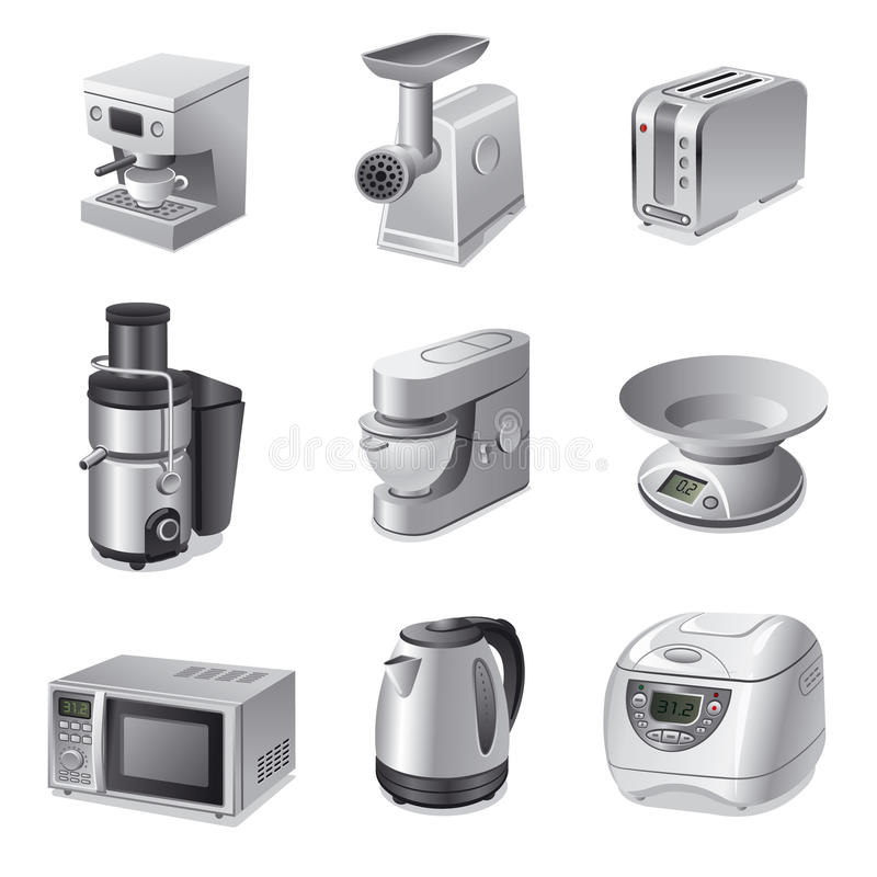 Download Kitchen Appliances Icon Set Stock Photography   Image: 30831522