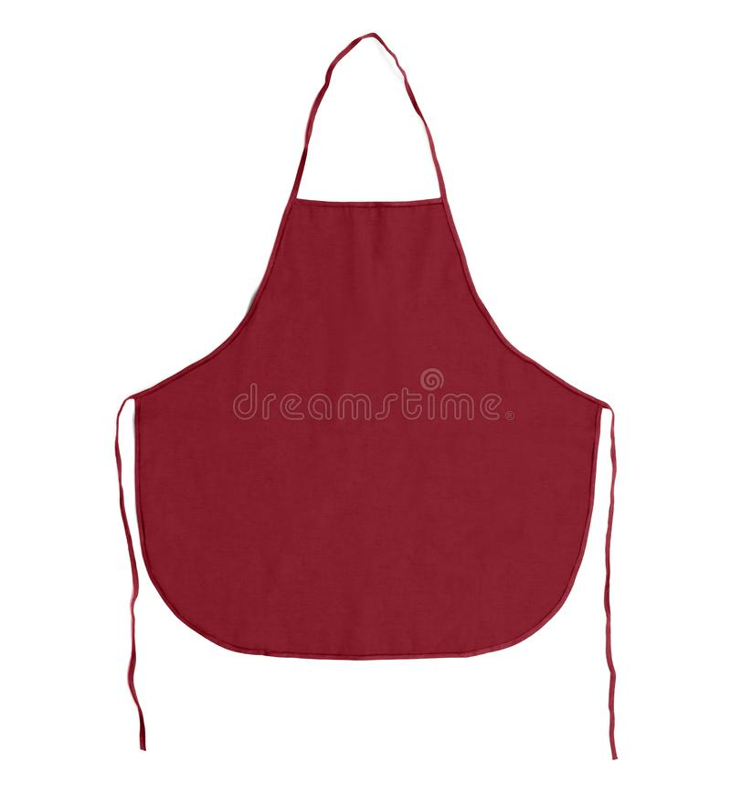 Kitchen apron. Front view. Isolated on a white background. royalty free stock photography