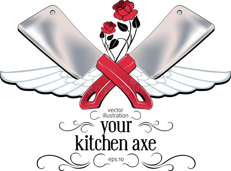 Download Kitchen Axe Label Royalty Free Stock Photo - Image: 18357515