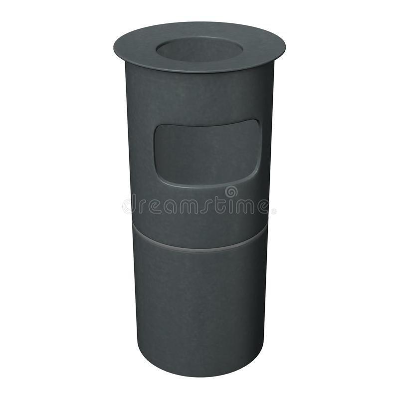 Kitchen bin. 3d render of kitchen bin stock illustration