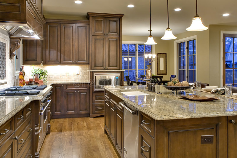Kitchen from Butler's Pantry View royalty free stock photos