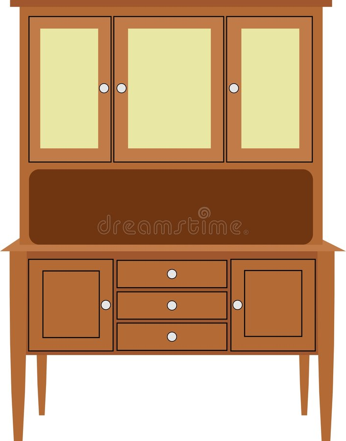 Download Kitchen Cabinet stock vector. Image of modern, drawers, woodwork - 49212